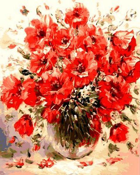 Картина по номерам Маковый букет. Худ. Антонио Джанильятти, 40x50 см., Mariposa