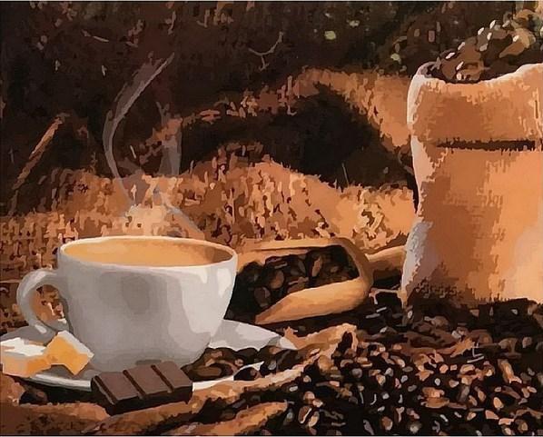 Картина по номерам Кофе с шоколадом, 40x50 см., Mariposa