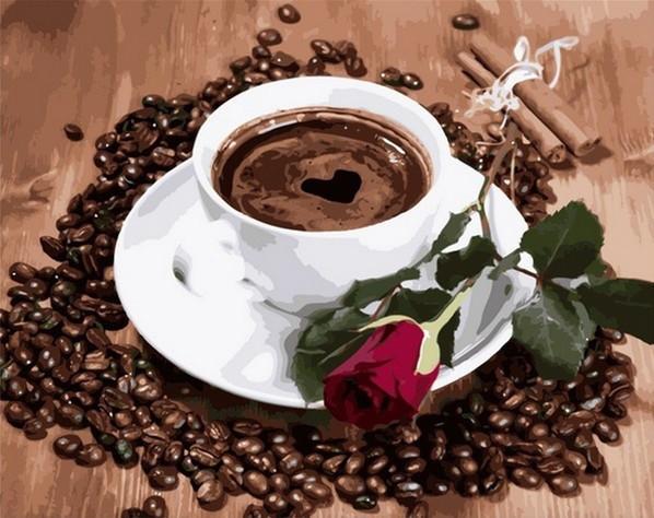Картина по номерам Приглашение на кофе, 40x50 см., Mariposa