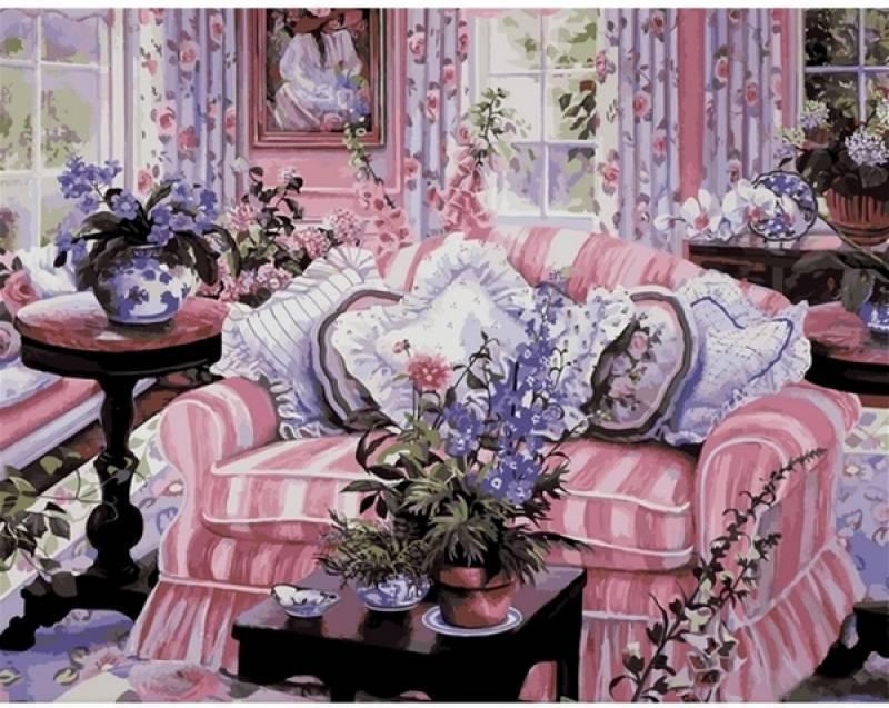 Картина по номерам Домашний уют. Худ. Сьюзан Риос, 40x50 см., Mariposa