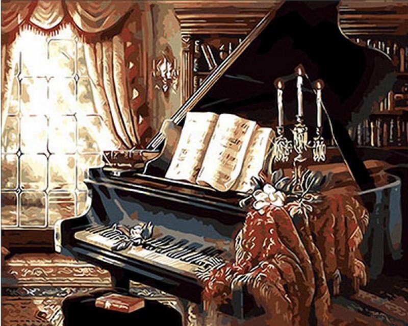 Картина по номерам Солнечая соната. Худ. Джуди Гибсон, 40x50 см., Mariposa