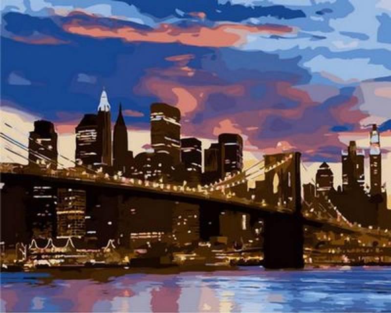 Картина по номерам Бруклинский мост, 40x50 см., Mariposa
