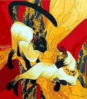 Картина по номерам Сиамские кошки, 40x50 см., Mariposa
