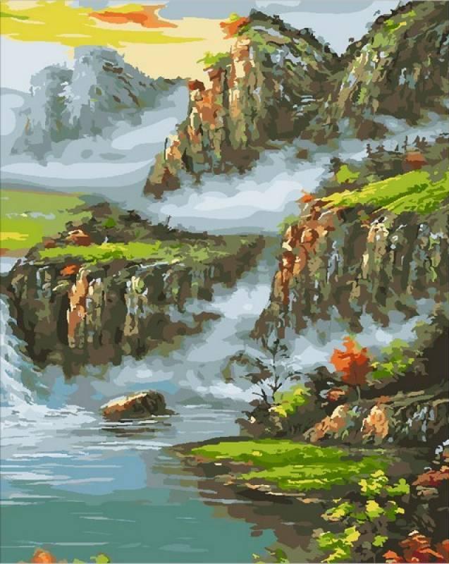 Картина по номерам Страна водопадов, 40x50 см., Mariposa