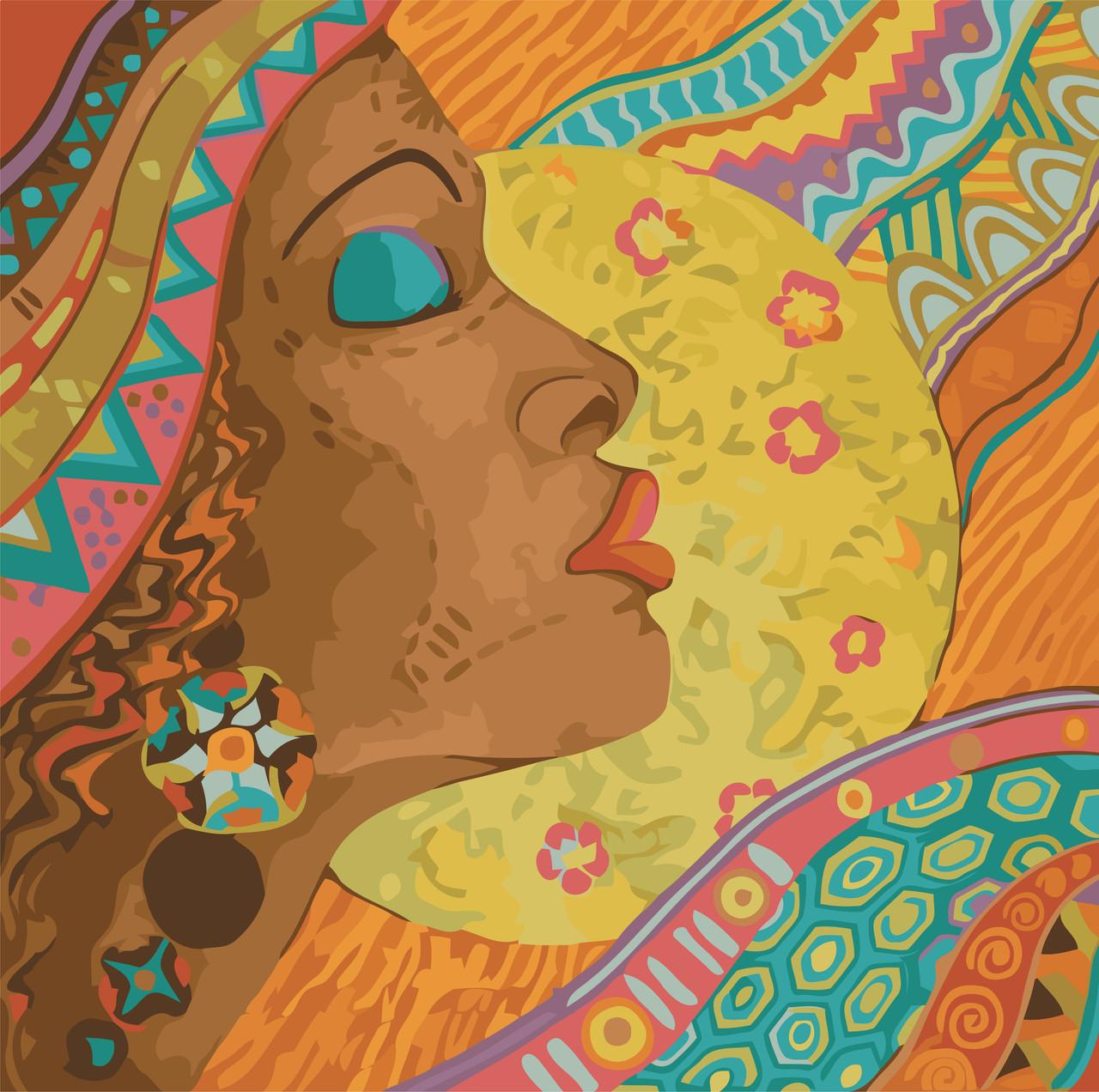 Картина по номерам Африканские краски, 40x40 см., Идейка