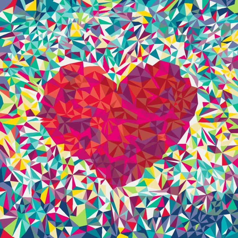 Картина по номерам Сердце поп-арт, 40x40 см., Идейка