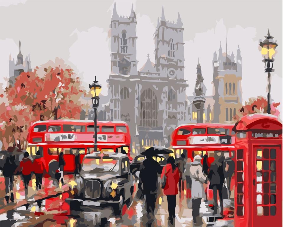 Картина по номерам Утро в Лондоне, 40x50 см., Идейка