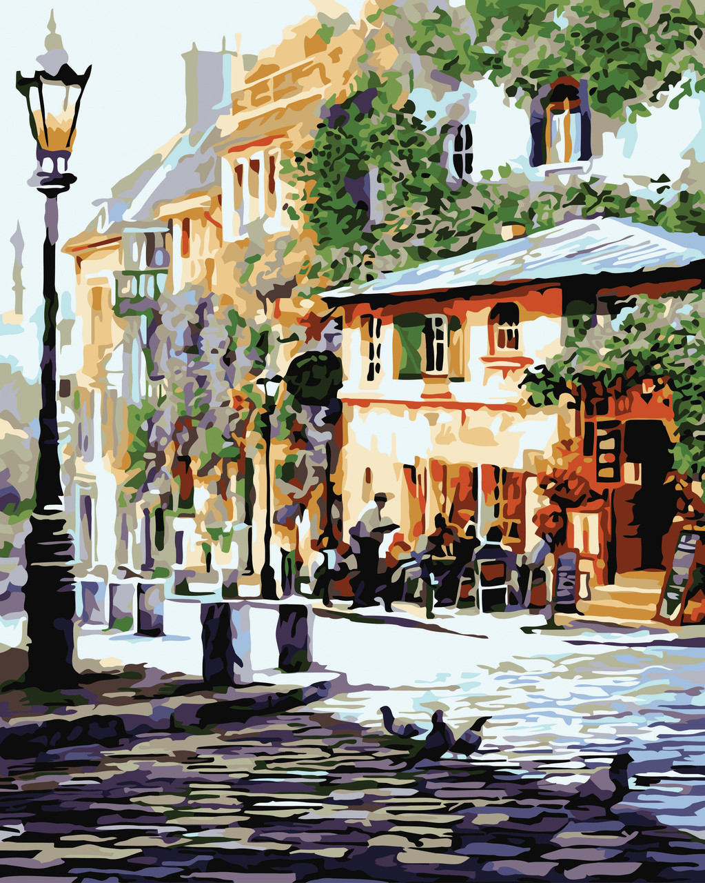 Картина по номерам Уютное кафе, 40x50 см., Идейка