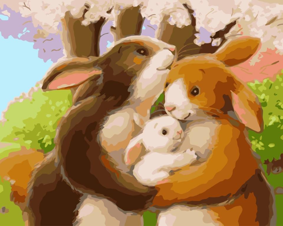 Картина по номерам Счастливая семья, 40x50 см., Идейка