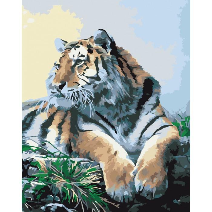 Картина по номерам Гордый тигр, 40x50 см., Идейка