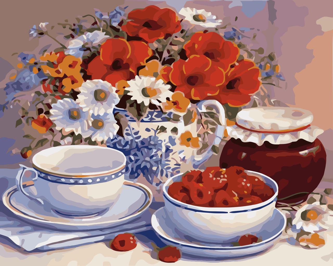 Картина по номерам КНО2029 Запрошення на чай, 40x50 см., Идейка