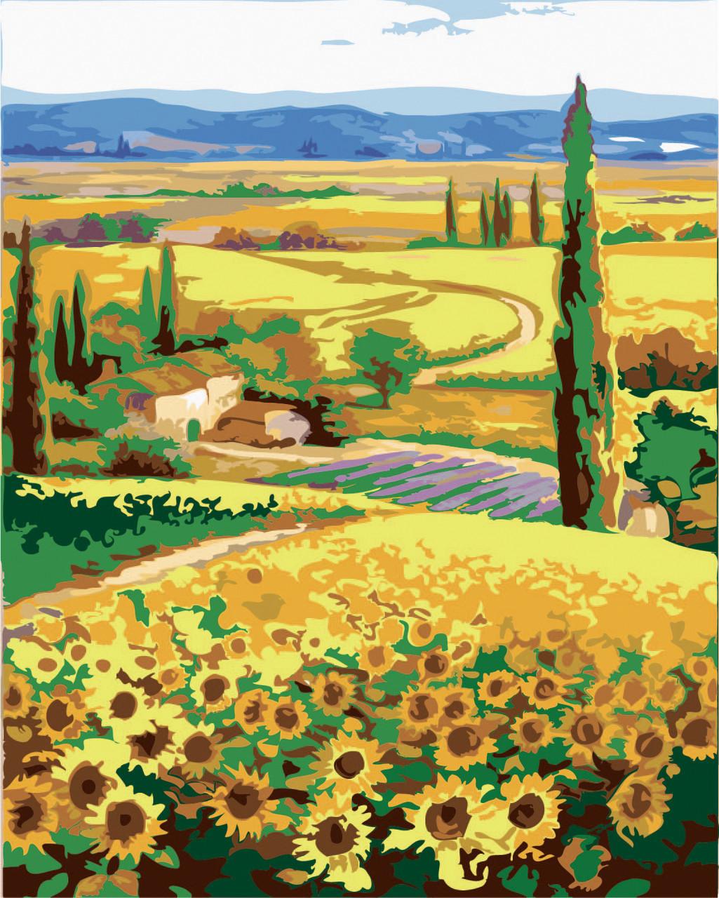 Картина по номерам Родные поля, 40x50 см., Идейка