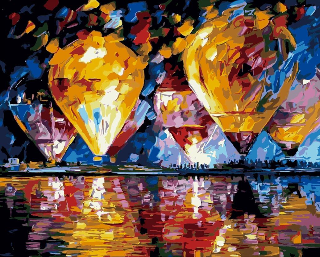 Картина по номерам Воздушные шары, 40x50 см., Идейка