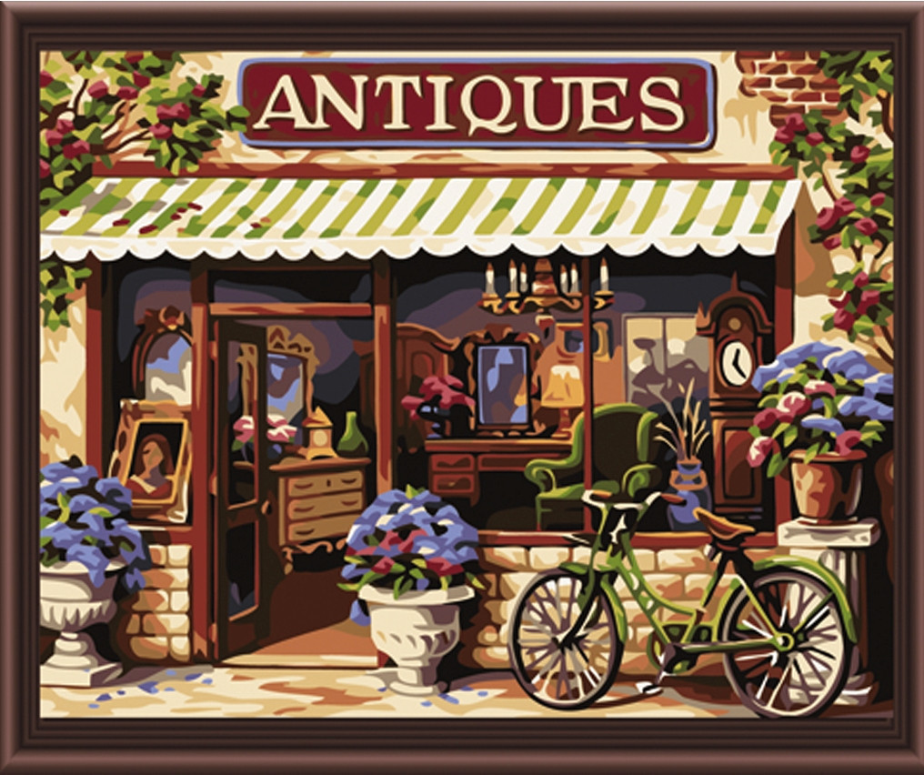 Картина по номерам Европейский магазинчик, 40x50 см., Идейка