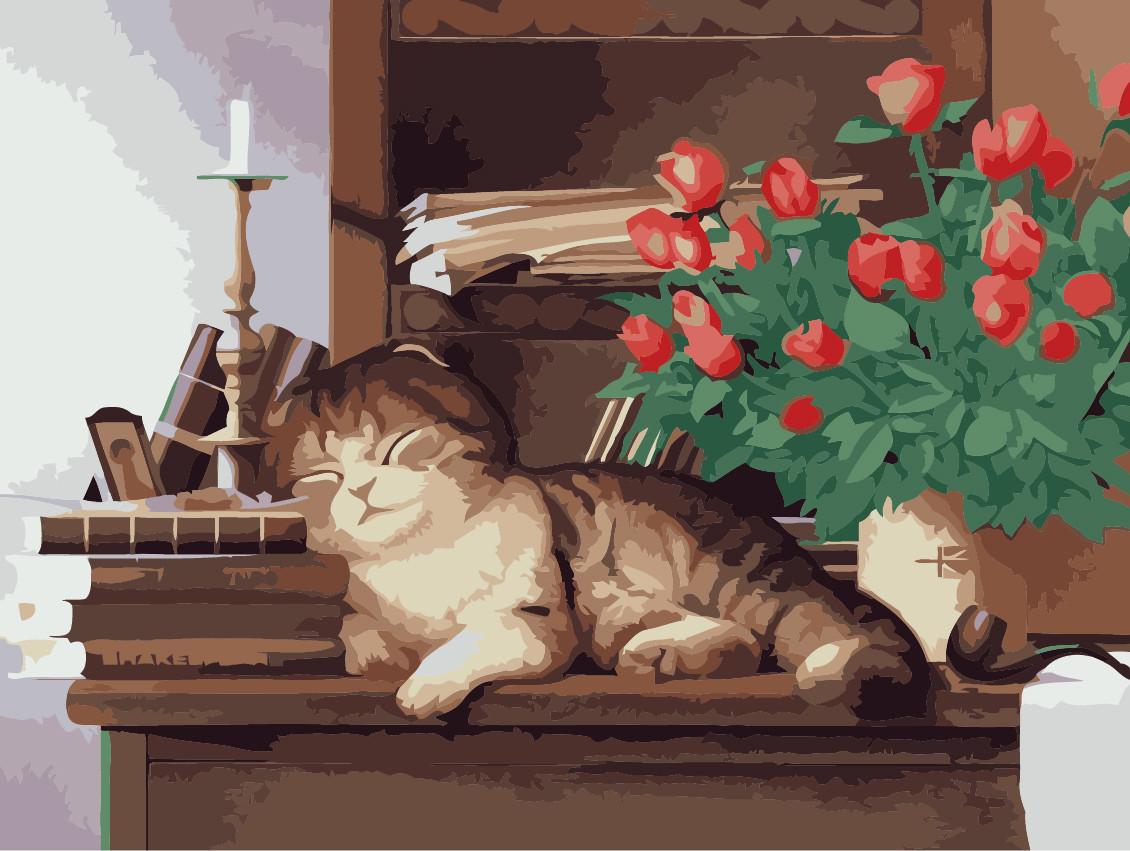 Картина по номерам Домашний любимец, 30x40 см., Идейка
