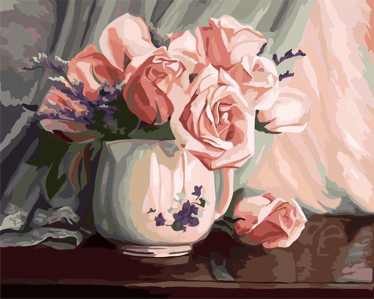 Картина по номерам Розовая романтика, 40x50 см., Идейка