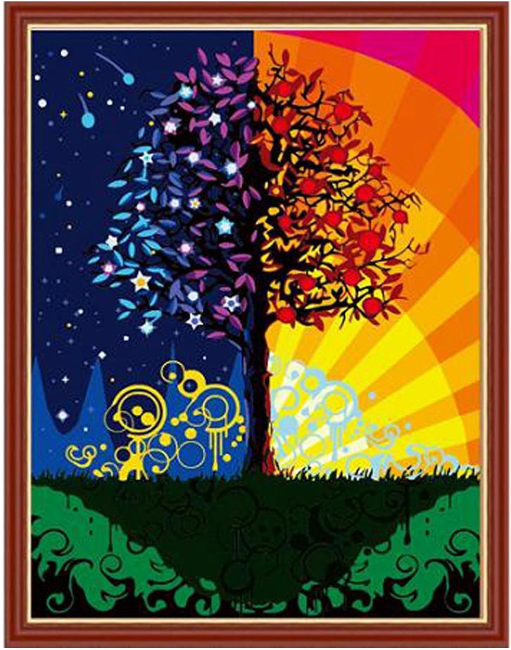 Картина по номерам Дерево счастья, 40x50 см., Идейка