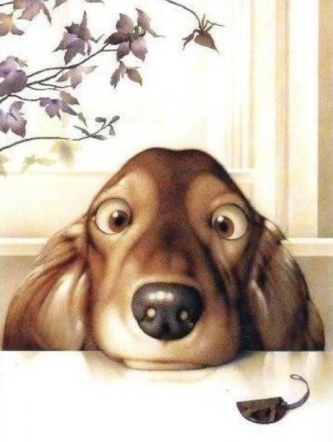 Картина по номерам Озорной щенок, 30x40 см., Идейка