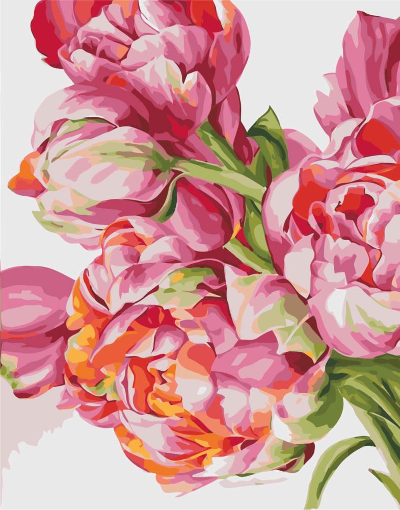 Картина по номерам Своенравные пионы, 40x50 см., Идейка