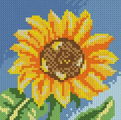 Алмазна вишивка Маленький соняшник