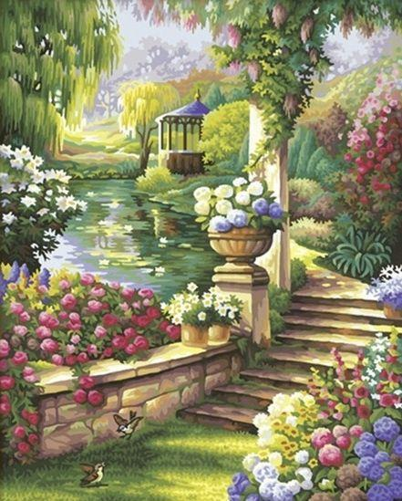 Алмазная вышивка Сказочный сад