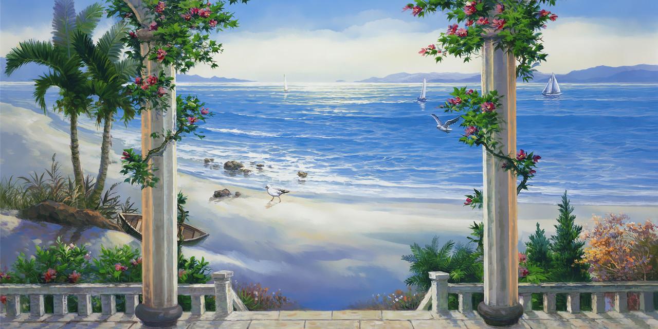 Алмазная вышивка Терраса у моря