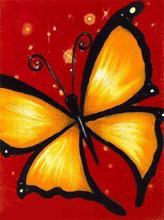 Алмазная вышивка Желтая бабочка 116