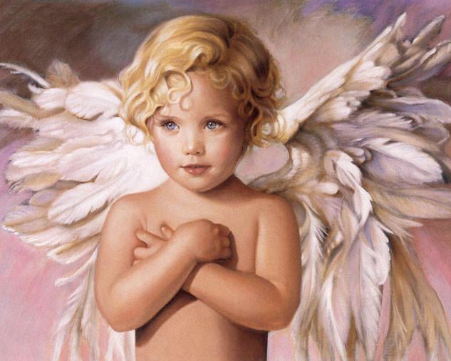 Алмазная вышивка Голубоглазый ангел 153