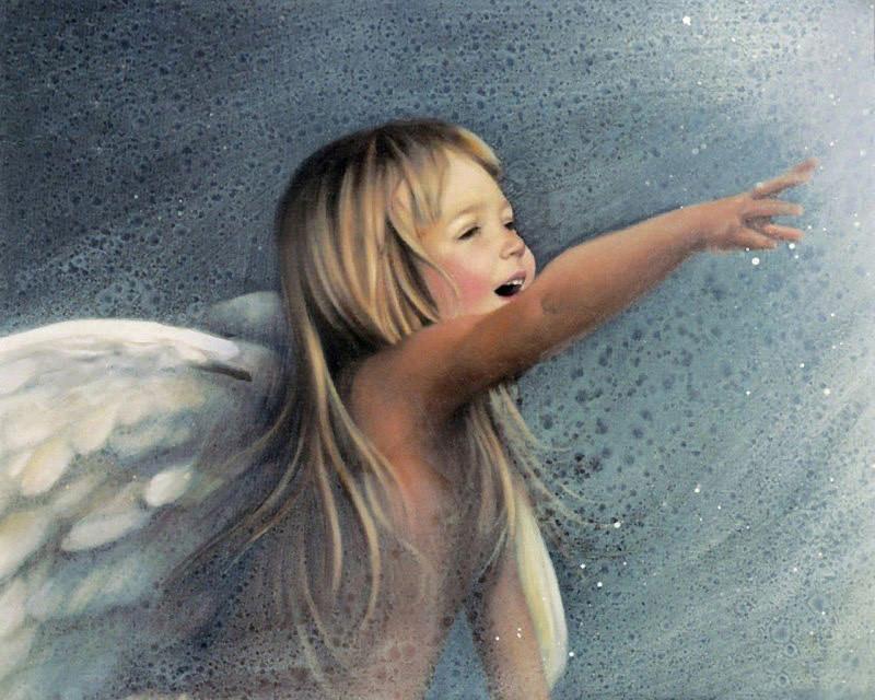 Алмазная вышивка Ангельский смех 154