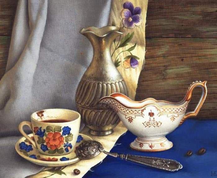 Алмазная вышивка Натюрморт с кофе 162