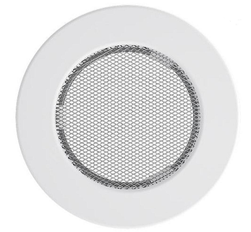 Решетка Kratki круглая FI 125 белая