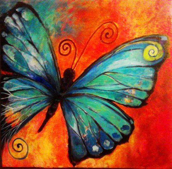 Алмазная вышивка Рисунок бабочки 182