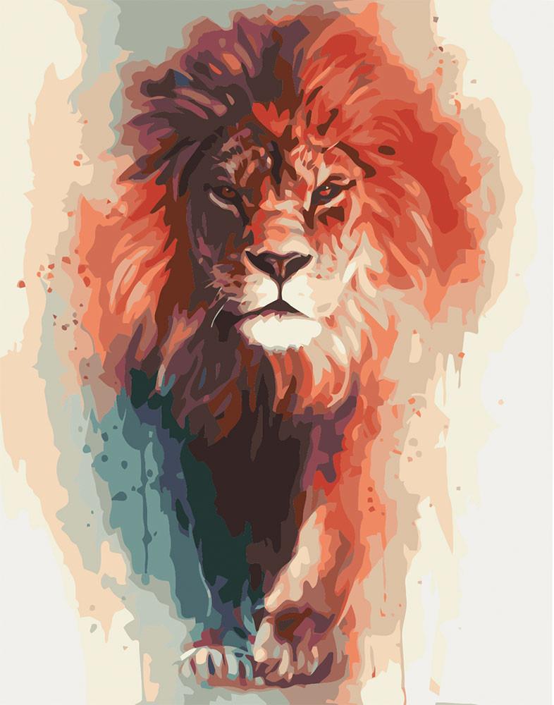 Картина по номерам Благородный король, 40x50 см., Идейка