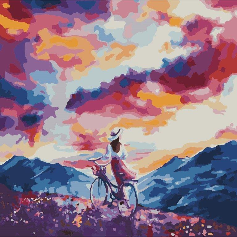 Картина по номерам Дыхание ветра, 40x40 см., Идейка