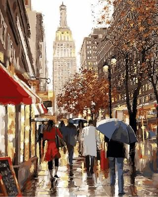 Картина по номерам  Эмпайр-стейт-билдинг. Худ. Ричард Макнейл , 40x50 см., Babylon