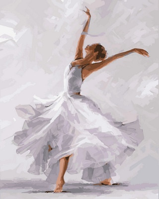 Картина по номерам Белый танец Худ. Ричард Макнейл, 40x50 см., Babylon
