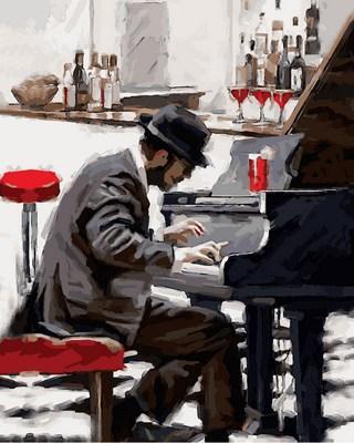 Картина по номерам Пианист. Худ. Ричард Макнейл, 40x50 см., Babylon