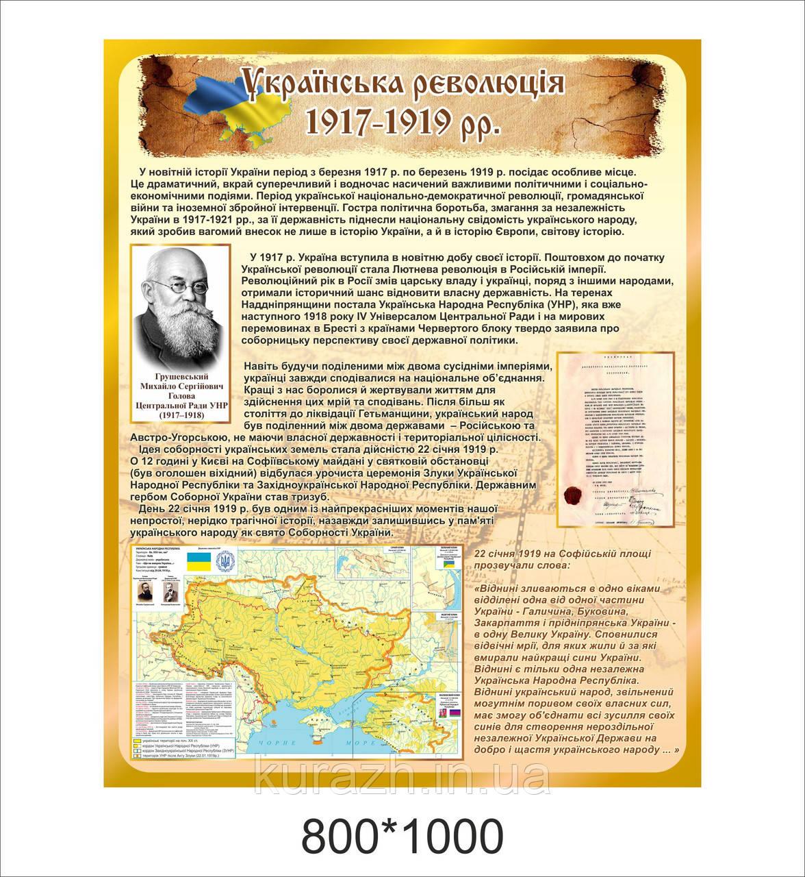 Стенд«Українська революція 1917-1919 рр.»