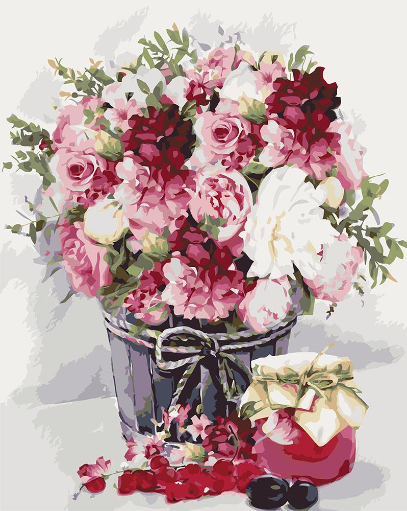 Картина по номерам Нежный букет, 40x50 см., Идейка