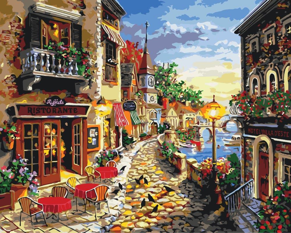 Картина по номерам Уютная улочка, 40x50 см., Идейка