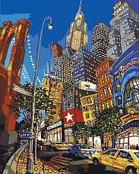 Картина по номерам Улицами Нью Йорка, 40x50 см., Идейка