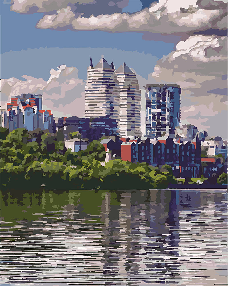 Картина по номерам Любимый город, 40x50 см., Идейка