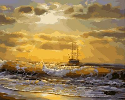 Картина по номерам Море на рассвете, 40x50 см., Mariposa