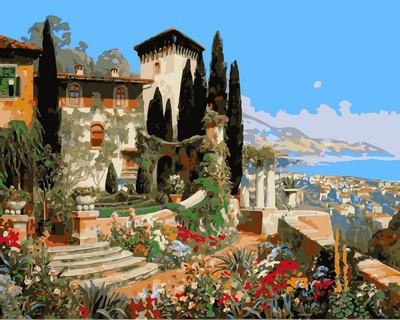 Картина по номерам Сан-Ремо Италии. Худ. Алоис Арнеггер, 40x50 см., Mariposa