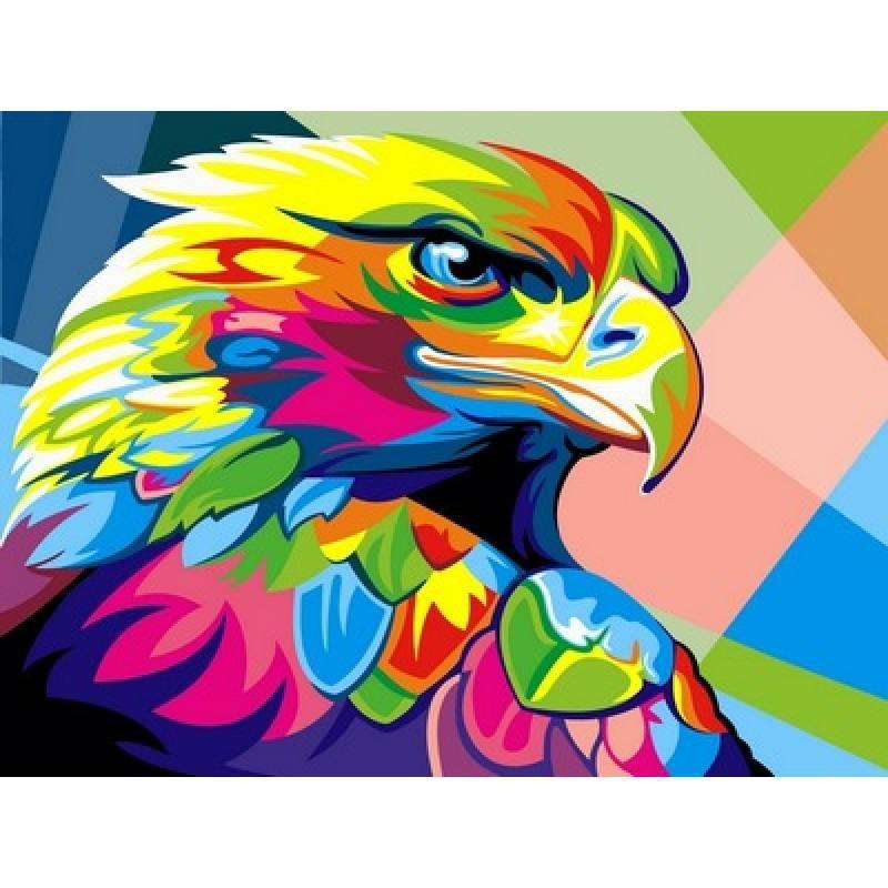 Картина по номерам Радужный орел. Худ. Ваю Ромдони, 30x40 см., Babylon