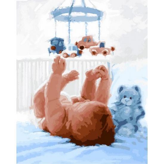 Картина по номерам Новорожденный. Худ. Ричард Макнейл, 40x50 см., Babylon