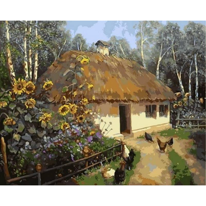 Картина по номерам Українська хата, 40x50 см., Babylon