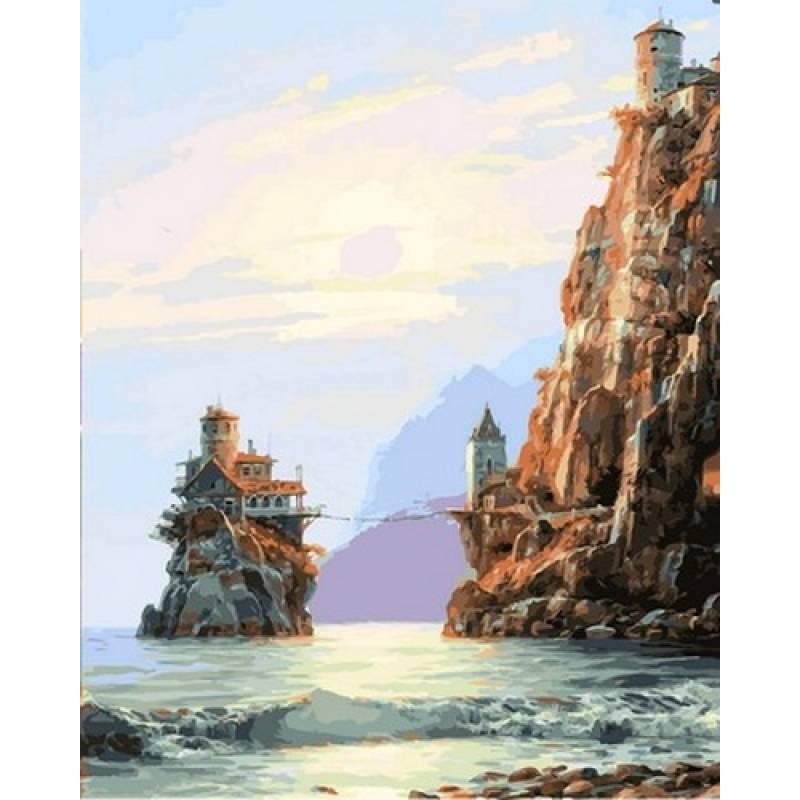 Картина по номерам Подвесной мостик. Худ. Валерий Черненко, 40x50 см., Babylon