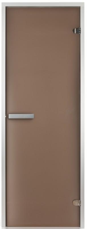 Стеклянная дверь для хаммама Greus 70х200 матовая бронза
