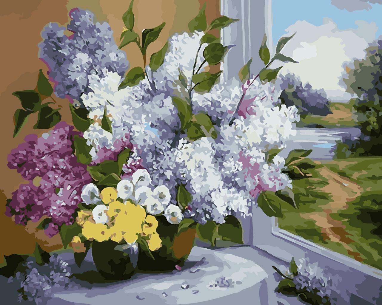Картина по номерам Букет сирени, 40x50 см., Art Story